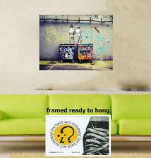 original life is short canvas print painting art Andy Baker framed not banksy