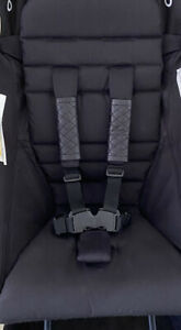 Leather Babyzen Yoyo Fitting  Harness Covers (Black Quilted)