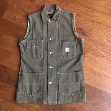 Ralph Lauren Workwear Chore Coat Pin Stripe Cut Off Vest