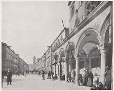 D6245 Croazia - Dubrovnik - Lo Stradone - Stampa d'epoca - 1933 vintage print