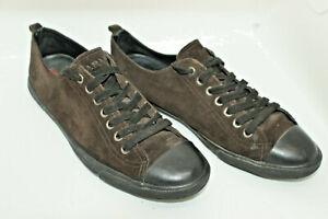 PRADA men shoes sz 9 Europe 43 brown suede black leather S8299
