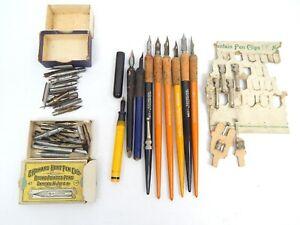 4A Lot Ink Point Nibs Cork Wood Pen Holders Cortex Premier Hunt & More Vintage