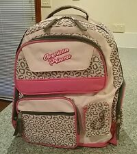 NEW AMERICAN PRINCESS BACKPACK SCHOOL BAG PINK LEOPARD ANIMAL PRINT