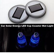 2Pcs Blue LED Light Solar Waterproof ABS Cup Holder For Car Camper Boat Cab Bus