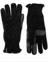 Isotoner Womens Touchscreen Chenille Cable-Knit Gloves One Size