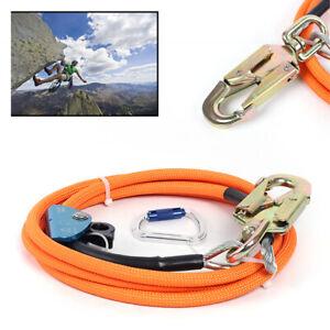 """Pro Steel Core Lanyard Kit Flipline 1/2"""" X 10' Climbing Swivel Snap Flip Line US"""