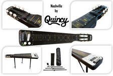 Black Nashville Quincy 6 String Lap Steel Slide Guitar Legs Tone Bar Included