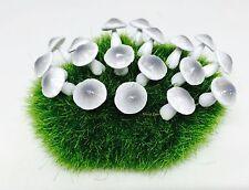 25 Tiny Gray Mushroom Miniature Dollhouse Fairy Garden Accessories Free Ship