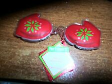 NWT PIER ONE IMPORTS Pair of Red Christmas Mittens - Vanilla Bath Gel