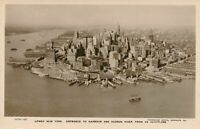 NEW YORK CITY -Entrance to Lower New York Harbor and Hudson River from Aeroplane