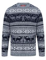 Christmas Jumper Crew Neck Reynisfjall Xmas Knit Sweater Pullover Ink Nordic