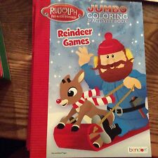 Rudolph the Red Nosed Reindeer  Games Christmas Jumbo Coloring &Activity Book