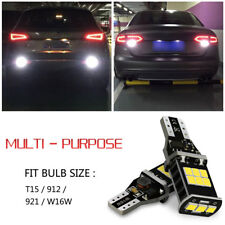 2x High Power 921 912 White T15 LED Backup Reverse Light Bulbs 6000K Error Free