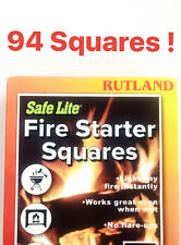 Rutland Safe Lite Fire Starter 94 Squares Open Box Perfect Product Deal !