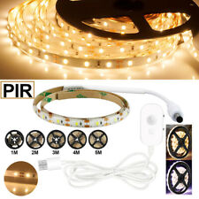 PIR Motion Sensor LED Strip Lights USB For Cabinet Wardrobe Closet Light Tapes