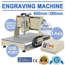 USB 4 Axis 6040 1.5KW VFD Máquina de grabado CNC Máquina fresadora Engraver Mill