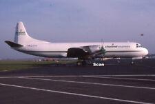 Original 35 mm Slide Aircraft/Plane/Airline Channel Express L-188Cf 1990 P3208