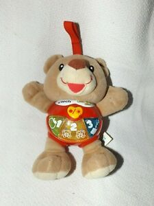 VTECH LITTLE SINGING ALFIE TEDDY BEAR 3-18 MONTHS LEARN NUMBERS COUNTING SONGS