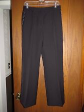 NWT Oscar de la Renta Black Virgin Wool Silk Straight Leg Pants 6