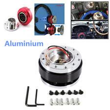Aluminium Black Car Steering Wheel Ball Quick Release Hub Adapter Snap Off Kit