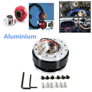 Aluminium Black Car Steering Wheel Ball Quick Release Hub Adapter Snap Off Kit