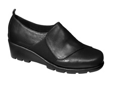 Scholl Neive Leather Memory Cushion Shoes in Black Various Sizes