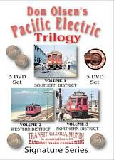 Don Olsen's Pacific Electric Trilogy 3 DVD Set NEW PE Red Cars Los Angeles PCC