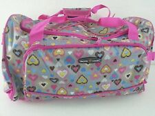 """NWT Pacific Coast 21"""" DELUXE SPORT DUFFEL Rugged Pink Abstra Travel Gear gym bag"""