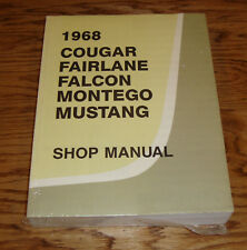 1968 Ford Mercury Cougar Fairlane Falcon Mustang Shop Service Manual 68