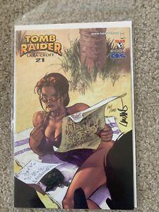 Autographed Tomb Raider #21 Retail Incentive Bikini Variant
