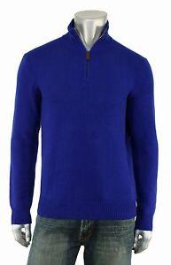 Ralph Lauren Polo Blue Half Zip Cashmere Sweater S New