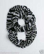 """Tolani Infinity Zebra Scarf 637  28"""" x  80"""""""