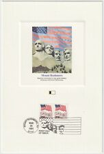 1991 USA FDC - Mount Rushmore - Fleetwood Proofcard Edition - 2 x 29 Cent Stamps