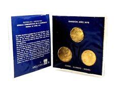 1978 Argentina 20,50,100 Peso Soccer Set Coins,Mini Album Story
