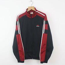 De Colección Adidas Chándal Rojo Espalda Top Chaqueta | Retro Trefoil Equipment | L Grande
