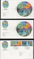 2001 THE WEATHER SET OF 4 ON FDC  x2 + other FDC A4.926