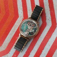 1966 Vintage Bulova Accutron Spaceview 214 Gold Filled Watch Men's M6 Works