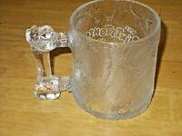 Vintage 1993 McDonald's Flintstones Rocky Road Frosted Glass Mug Cup