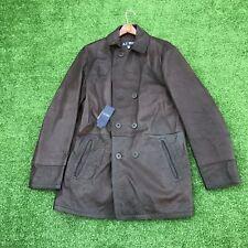 Giorgio Armani Leather Jacket Men's Jacket Brown Designer Streetwear Jeans