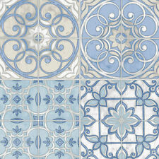 Mosaic Tiles Blue Wallpaper KE29950 Double Roll Bolts FREE SHIPPING