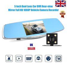 "5"" Doble Lente Lcd Hd 1080P coche DVR Cámara Video Grabadora Cámara en Tablero espejo retrovisor"