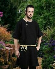 Medieval Reenactment Theater Tunic  Black Color Fancy Style New Look