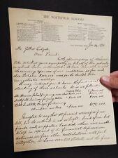 1894 Signed Letter by D.L. Moody on Northfield School's Letterhead