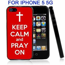 Red Keep Calm and Pray On For Iphone5 5G Case Cover