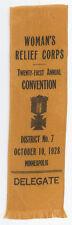 GAR 1928 MINNEAPOLIS MINNESOTA WRC RIBBON