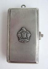 German Silver Chatelaine Coin Holder Change Purse Fob Knight Signet Pendant Vtg