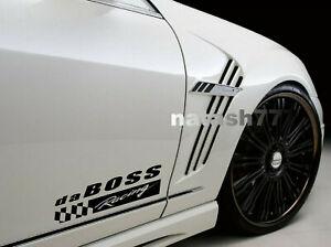da BOSS Racing Vinyl Decal Sticker Performance Sport Car Truck emblem logo 2 pcs