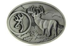 Buck Hunting Deer Hunter Antique Silver Color Western Belt Buckle
