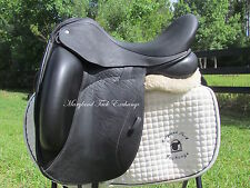 "18"" CUSTOM SADDLERY ICON STAR buffalo dressage saddle- ADJUSTABLE TREE-2016!!"