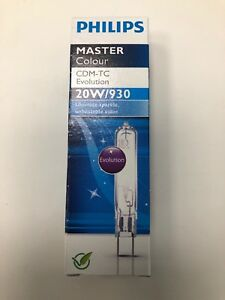 Philips MASTERColour CDM-TC 20W 930 3000k Warm G8.5 Metal halide HID Bulb